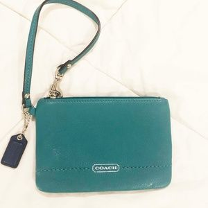 Coach Wristlet in Bright Jade